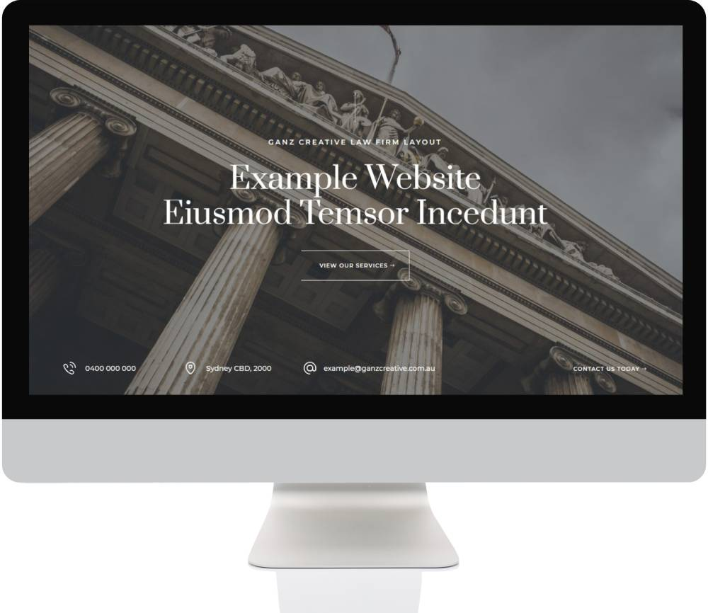 Small Business Websites - Law Firm