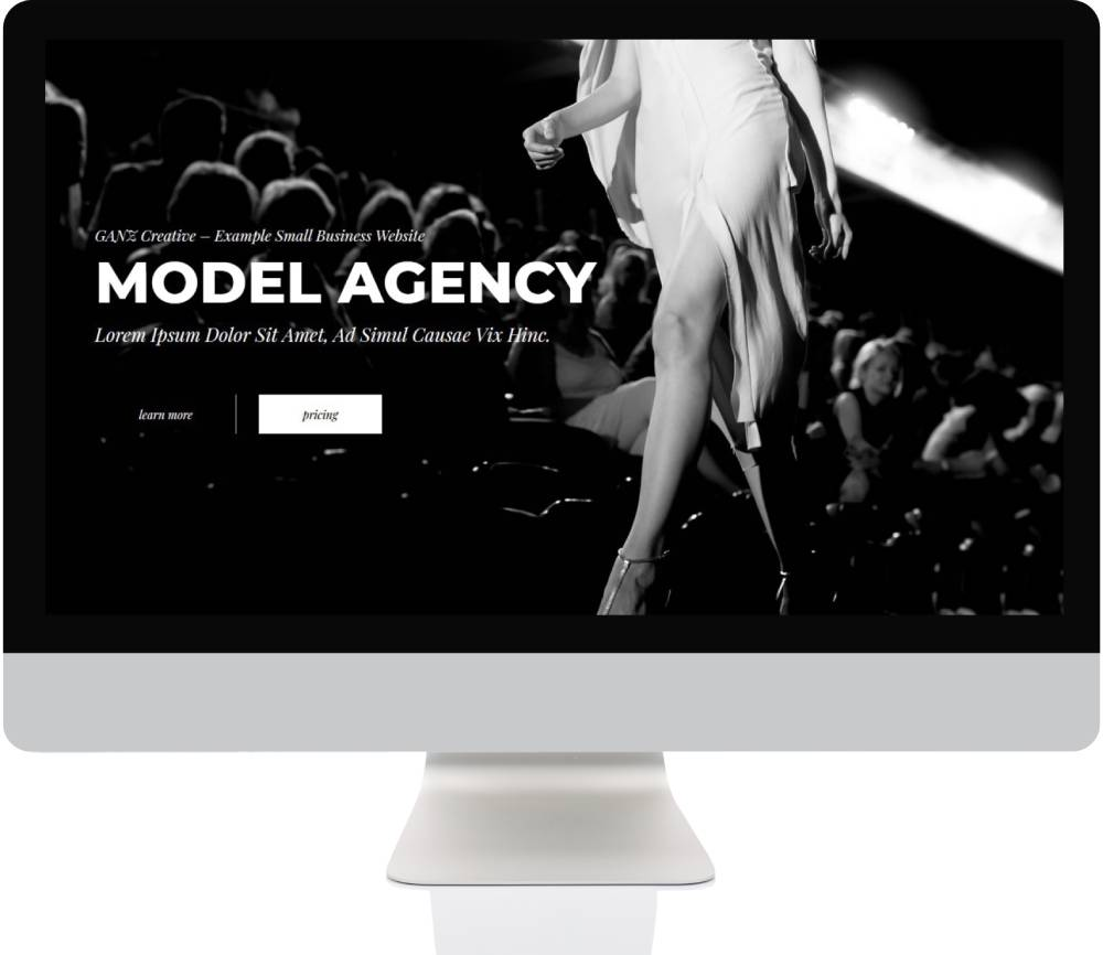Small Business Websites - Model Agency